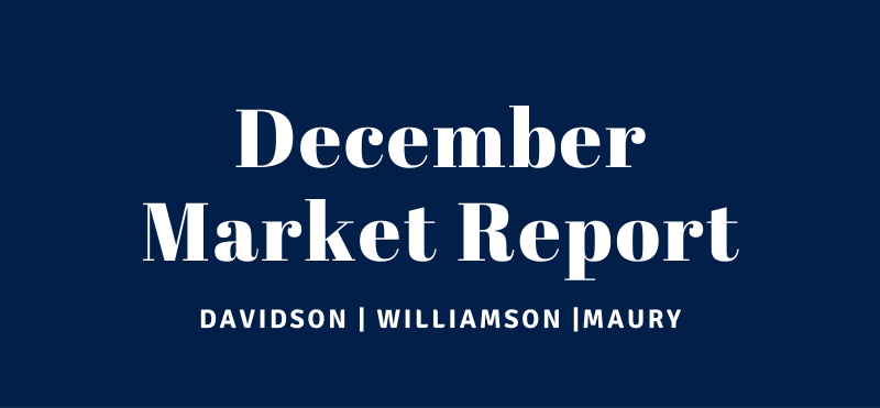 December Market Report for Williamson, Davidson and Maury County